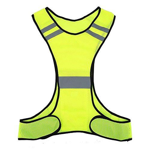 Warnweste, reflektierend, sehr dünn und atmungsaktiv, für hohe Sichtbarkeit, für Motorrad- und Fahrradfahrer, Jogger, Läufer und Arbeiter