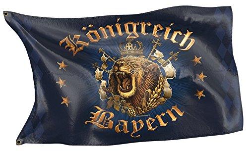 Original RAHMENLOS Design-Flagge für den Bayern Fan: Königreich bayern