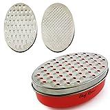 Neueste Käsereibe mit Aufbewahrungsbox. Bewertet als Nr. 1 Lebensmittelreibe für Hart- und Weichkäse (z.B. Parmesan), Gemüse, oder zum Reiben von Zitronenschale. Ideales Küchenzubehör.