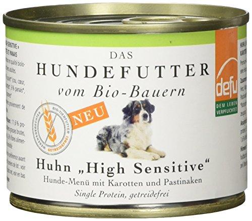 defu Bio Hundfutter High Sensitive Huhn Menü, 12er Pack (12 x 200 g)