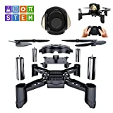 Rc Steam Ferngesteuertes Spielzeug DIY Mini Racing Drohne Headless Modus 2,4 Ghz LED RC Quadcopter Altitude Hold Geschenke für Anfänger Kinder und Erwachsene Ferngesteuertes flugzeug