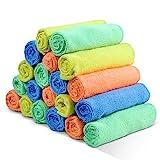 Vier-färbige Putzlappen 20 Stück/Packung 40 x 30cm Mikrofasertuch zur Reinigung von Küchen, Autos, Möbeln usw Masthome