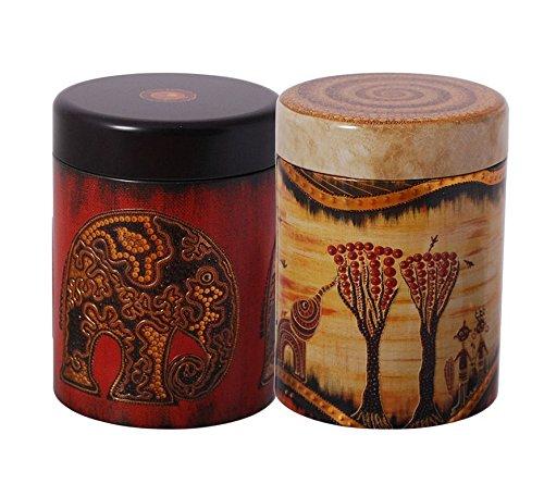 Teedose Afrika rund 125g (2er Set)