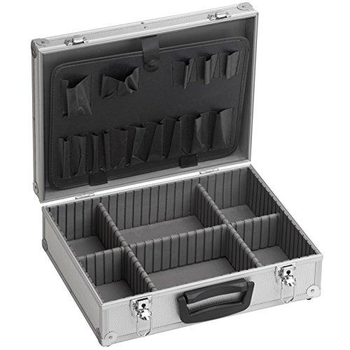 Meister Werkzeugkoffer leer, 395 x 300 x 130 mm - Verstärkter Rücken - Individuelle Fachaufteilung - Abschließbar / Werkzeugkiste / Organizer / Alu-Koffer leer / 9095130