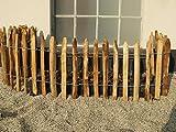Staketenzaun Kastanie Höhen 50 cm - 200 cm, 5 Meter Rolle, 3 versch. Lattenabstände (Länge x Höhe: 500 x 50 cm, Lattenabstand: 4-6 cm)