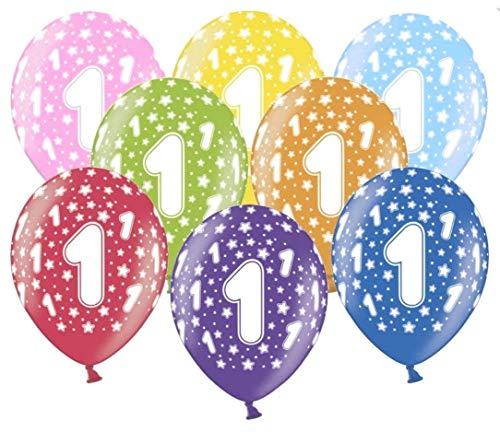 Libetui 10 kunterbunte Luftballons Metallic 30cm Deko zum Geburtstag Party Kindergeburtstag Happy Birthday Dekoration