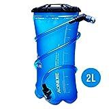 AONIJIE 1.5L/2L/3L Faltbares TPU Wasserbeutel Trinkblase Trinkbeutel mit Schlauch und Mundstück für Marathon Running Wandern (2L)