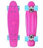 STAR-SKATEBOARDS Original Vintage Retro Cruiser Skateboard für Kinder und Erwachsene auch Anfänger ab ca. 6 - 8 Jahre  22er Diamond Class