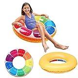 QUN FENG Schwimmring - Aufblasbares Schwimmspielzeug Orange Poolspielzeug Durchmesser ca. 70cm Geeignet für über 4 Jahre
