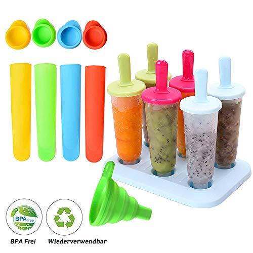 BSET BUY Eisform, DIY hausgemachte kreative Eisformen, EIS am Stiel Schimmel Set mit Silikontrichter