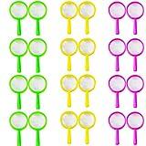 BESTZY 24 Stück Kinder Lupe Spielzeug Vergrößerun gsglas Kinder-Sets zum Kindergeburtstag Party Geschenk für Detektiv Spion Geheimagent Forscherset