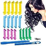Sungpunet 18 weichen Schwamm Curls Hair Styling Lockenwickler Bunte Gelockt Werkzeuge Haar DIY