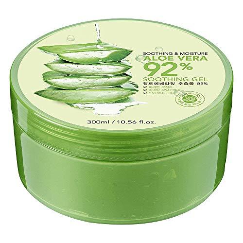 Aloe Vera Gel,Huttoly Natürliche Feuchtigkeitspflege Aloe Vera Creme Für Gesicht, und Körper, 300ml