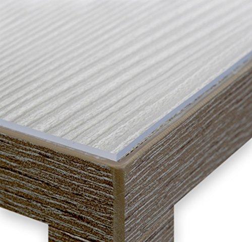 Glasklar Folie 2,0 mm transparente Tischdecke Tischschutz Lebensmittelgeeignet, Breite und Länge wählbar