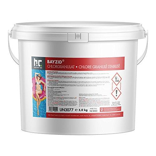 Hoefer Chemie 5 kg BAYZID Chlor Granulat wirkt schnell und zuverlässig für Pool und Schwimmbad - versandkostenfrei bestellen