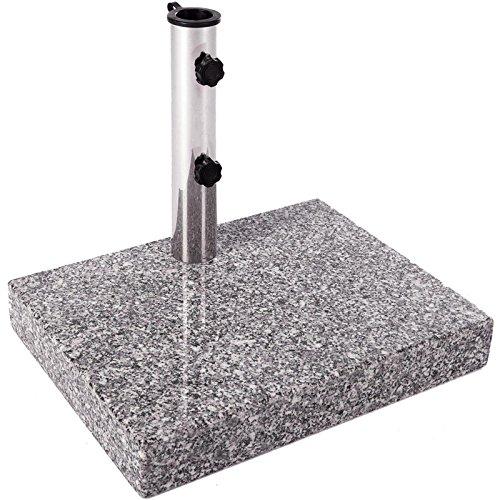 Sonnenschirmständer Balkon Schirmständer Granit 45 x 35 x 7 cm 25 kg