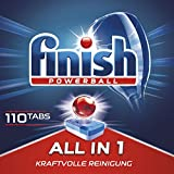 Finish All in 1,  Sparpack, Spülmaschinentabs, Spülmaschine, Geschirr, Geschirrspüler, Spülen, Reinigung,  110 Tablets