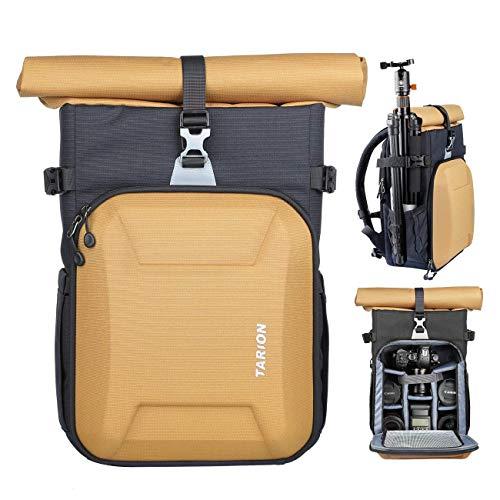 TARION XH Kamerarucksack Kameratasche DSLR Rucksack Fotoruckack Unisex für Sony Canon Nikon Kameras Stativ Objektiv usw. Zubehör mit 15,6 Zoll Laptopfach & Regenschutzhülle