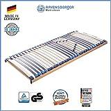 Ravensberger Matratzen MEDI XXL Lattenrost | 5-Zonen-Buche-Schwergewichts-Lattenrahmen | 30 Leisten| starr | MADE IN GERMANY - 10 JAHRE GARANTIE | TÜV/GS 140x200 cm