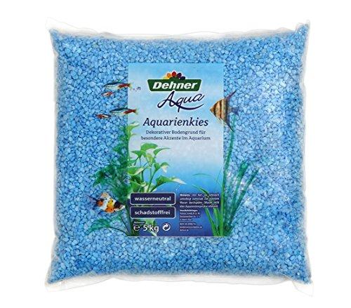 Dehner Aqua Aquarienkies, Körnung 4 - 6 mm, 5 kg, hellblau
