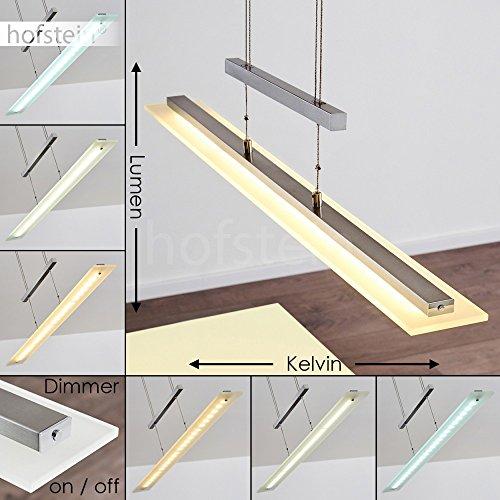 LED Pendelleuchte dimmbar - Längliche höhenverstellbare Zimmerlampe für Esszimmer - Wohnzimmer - Schlafzimmer - fest installierte LED - Lichtfarbe steuerbar - Sensorsteuerung - 3000 - 6500 Kelvin