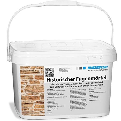 Ruberstein Historischer Fugenmörtel natur im 10 kg Eimer