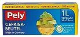 1200 Stück Pely Gefrierbeutel pely 8671 klimafreundlich 1 Liter, 16 x 25 cm.1 Karton mit 12 Packungen. Jede Packung hat 100 pely Gefrierbeutel 1 Liter