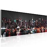 murando - Acrylglasbild New York 120x40 cm - Glasbilder - Wandbilder XXL - Wandbild - Bilder - Skyline NY Stadt City d-B-0087-k-a