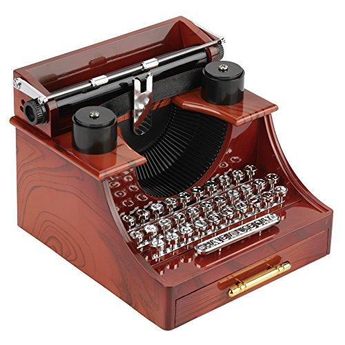 Mini Vintage Style Schreibmaschine Uhrwerk Spieluhr Kreative Retro Spielzeug Geschenk Tisch Dekoration