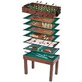 Ultrasport Kinder Spieltisch 12-in-1 Game Zone, mit Tischfußball, Billard, Schach etc.: Multigame Tisch, sämtliches Zubehör im Spieltisch enthalten