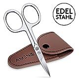 Ameno Profi Nagelschere - Extra scharfe Nagelschere mit gebogener Schneide - Inklusive Etui - Auch für Linkshänder und Fußnägel geeignet - Für Maniküre und Pediküre