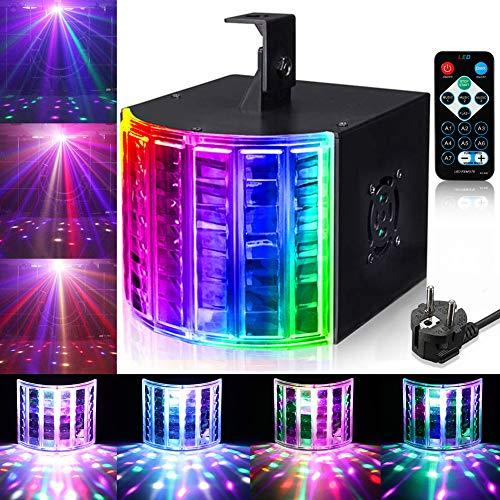 LED PAR Licht Lunsy 3 Modus LED Stroboskop Licht DMX Controller Lichteffekte Partybeleuchtung Strahler Blitzer Bühnenbeleuchtung mit Fernbedienung für Party Bar Geburtstag