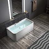 Exclusive freistehende Badewanne an 3 Seiten geschlossen Acryl (mit Armatur 170cm)