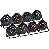 BuoQua 8 Stück 18X3W Lichteffekte DMX Bühnenbeleuchtung LED Bühnenlicht Controller für DJ Disco Party KTV (8 Stück)
