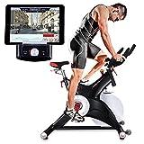 Sportstech Profi Indoor Cycle SX500 mit Smartphone App Steuerung + Google Street View, 25KG Schwungrad, Armauflage, Pulsgurt kompatibel - Speedbike in Studioqualität mit SPD Klicksystem – bis 150 KG