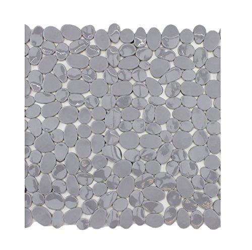 Badewanneneinlage Duscheinlage Duschmatte in Steinoptik - Grau - ca. 53 x 53 cm - von Brandseller