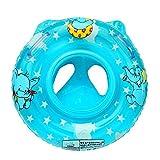DEMU Baby Schwimmreifen Schwimmring Schwimmhilfe Schwimmsitz Aufblasbar Schwimmboot (Blau)