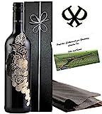Italien Weingeschenk L'uva Bella Rotwein Geschenkset Toskana Weinrebe in Silber 3D Luxus Wein für Experten Alternative zu Chianti oder Barolo Brunello