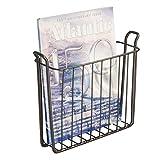 mDesign Zeitungshalter für die Wand – schöner Zeitschriftensammler aus Metall für Badezimmer, Küche oder Büro – auch für Bücher, Tabletts etc. geeignet