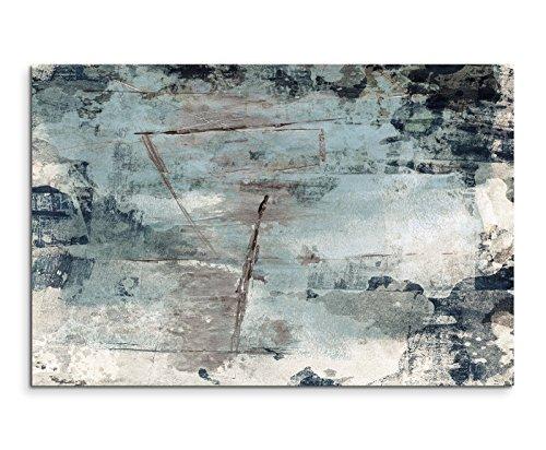 120x80cm Leinwandbild Leinwanddruck Kunstdruck Wandbild grau braun schwarz beige Grunge