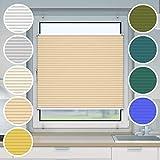 Victoria M. Plissee Klemmfix ohne Bohren EasyFix, Größe: 35 x 100 cm, Farbe: beige