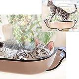 CVERY Katzen-Fensterbett mit Saugnäpfen - Katzen-Fenster-Sitzstange fürs Auto, Hängematte, Liege, Katzenliege, sicheres Sonnenbad für kleine und mittelgroße Katzen