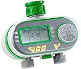 Royal Gardineer Gartenbewässerung: Digitaler Bewässerungscomputer BWC-200 mit 2 Anschlüssen (Automatische Bewässerung)