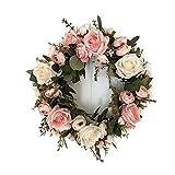 LinTimes Türkranz Wandkranz, handgefertigte Kunstblumendeko für Zuhause, Parties, Türen, Hochzeiten