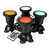 GreenSun LED Lighting Gartenteich Lampe Aquarium Licht 8W Unterwasserlicht RGB 36 Leds Unterwasserleuchte Aquarium LED Beleuchtung Aquariumlampe