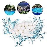 Funmo 700g Filter Balls Poolfilter Pool Filterkessel Sandfilter rsetzen 25 kg Filtersand Quarzsand Pool (Weiß)