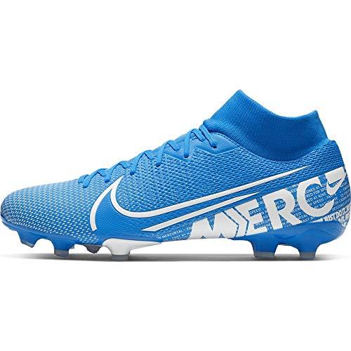 Nike Unisex-Erwachsene Superfly 7 Academy FG/MG Fußballschuhe, Mehrfarbig (Blue Hero/White-Obsidian 414), 44 EU