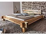 moebel-eins Jazz Massivholzbett/Balkenbett Wildeiche geölt, 180 x 200 cm