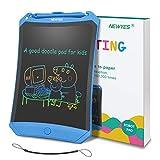 Bunte LCD Schreibtafel NEWYES 8,5 ' hellere Schrift mit Anti-Clearance Funktion und Dicke Linien,Magnete,String,Stift papierlos für Schreiben Malen Notizen Super als Geschenke (Blau+bunt)