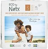 NATY by Nature Babycare 8178402 Eco by Naty Premium Bio-Windeln für empfindliche Haut, Größe 5, 11-25 kg, 6 Packungen à 22 Stück (132 Stück insgesamt), weiß
